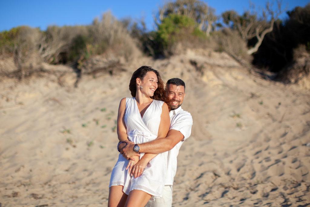 séance photo couple dans Les Landes